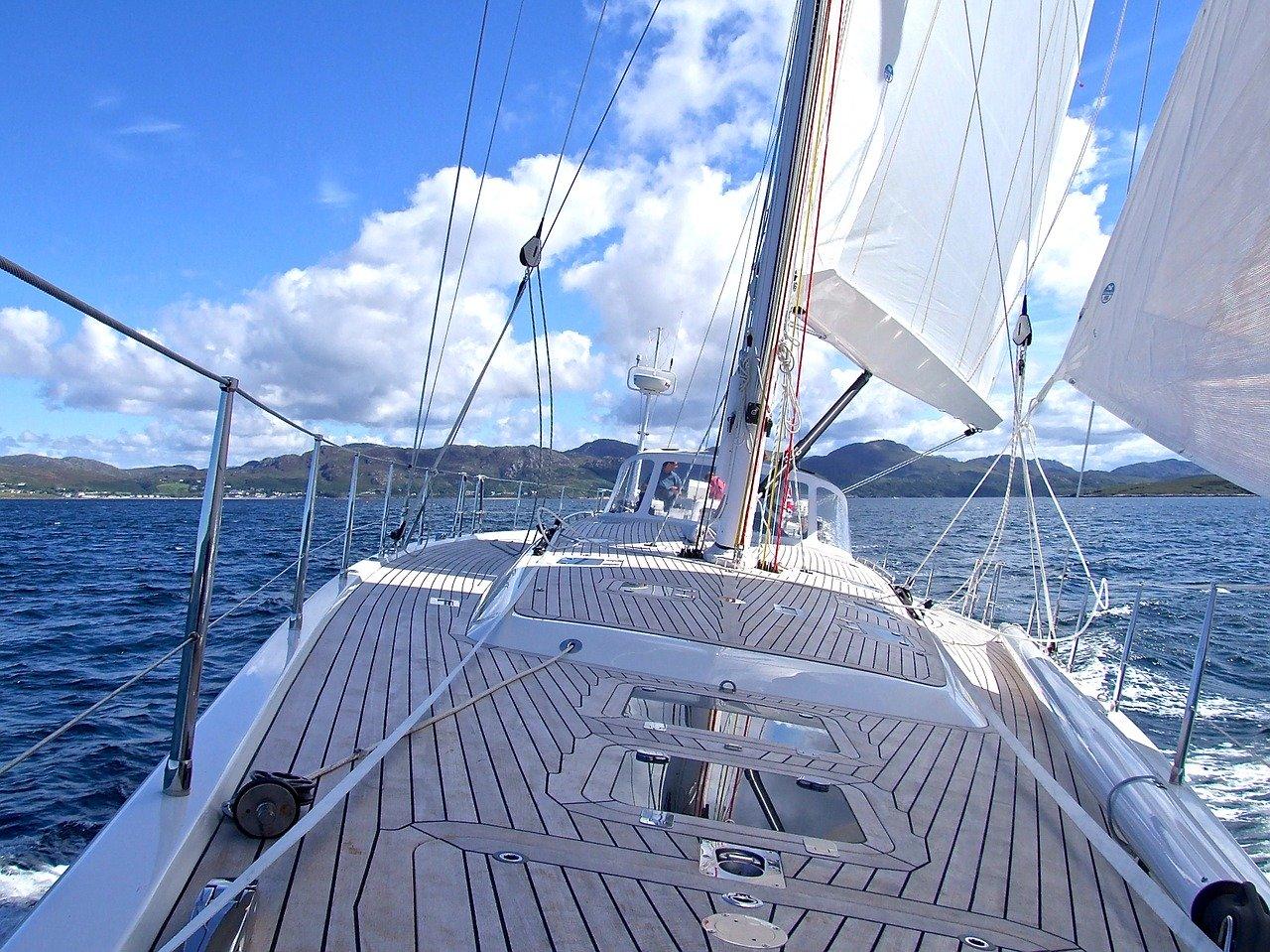 yacht, sea, boat
